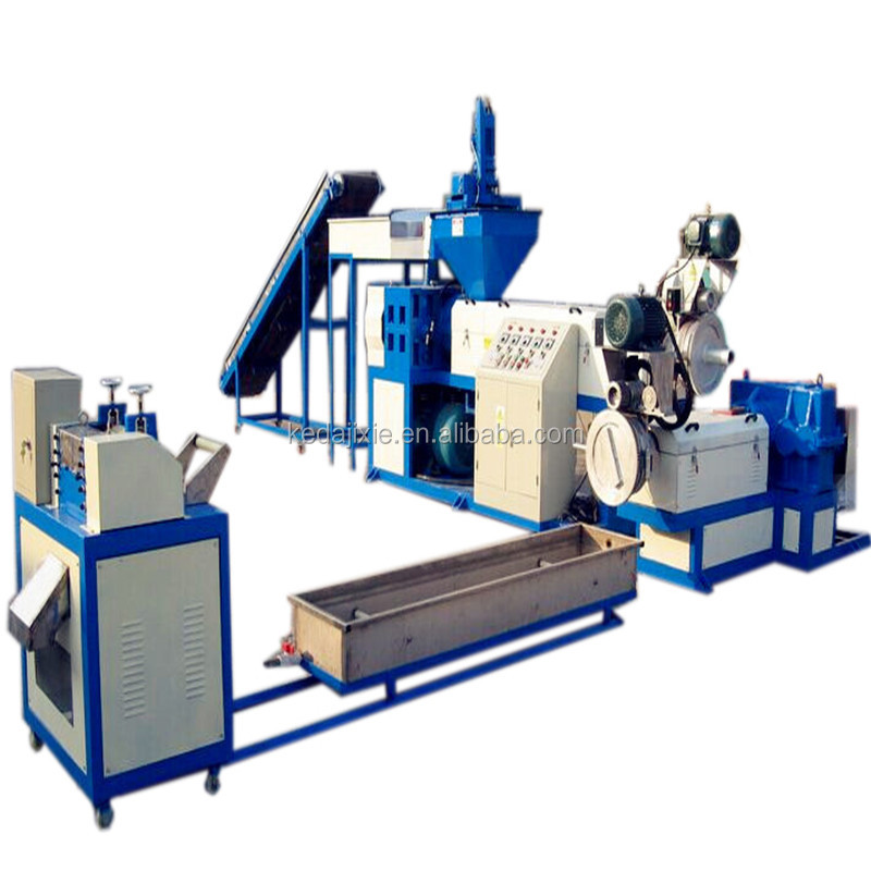 KEDA brand hopper feeder type plastic waste pelletizing recycling granulator machine for recycling pp / pe / abs / ps scraps