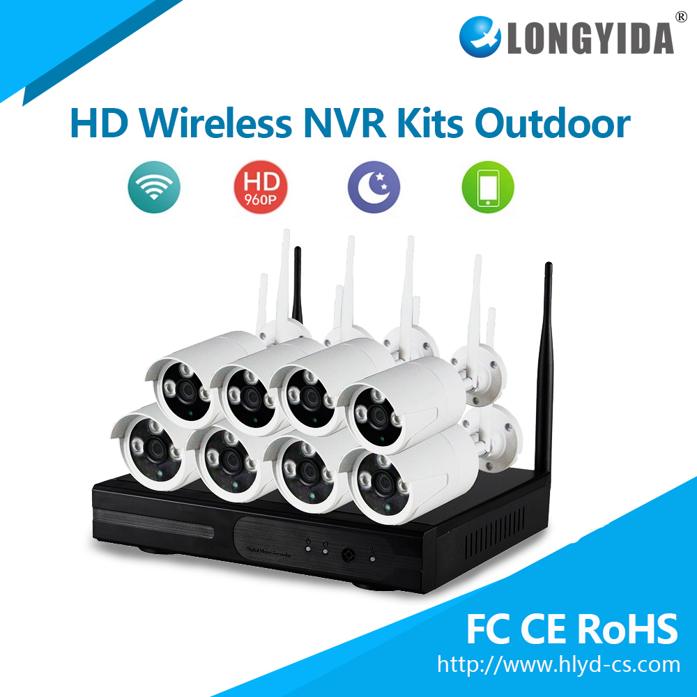 Top Quality IP Surveillance System 4CH Security Cameras Wireless NVR kit
