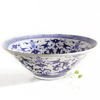 Wholesale Chinese Blue White Ceramic Decorative Tea Bowl