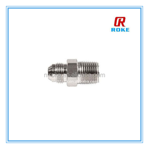 jic to npt hex nipple , hex carbon steel male nipple flared fitting