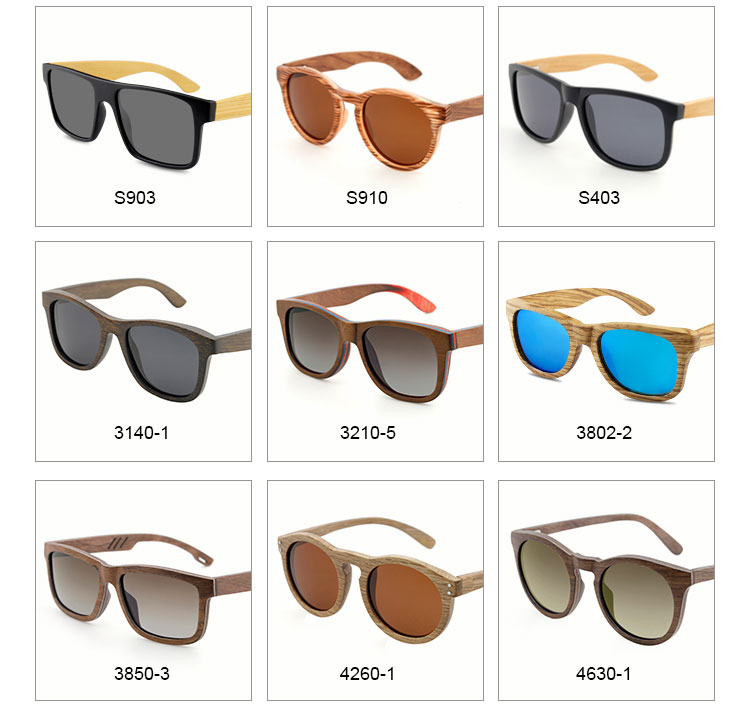 China custom logo wooden sunglasses UV400 Cat.3 polarized bamboo sunglasses private label sun glasses