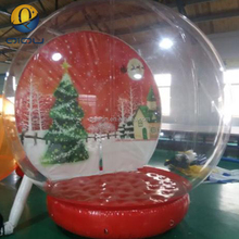 Top quality christmas 13ft air blown clear pvc snow globe balloon, human snow globe, large christmas snow globe for live show