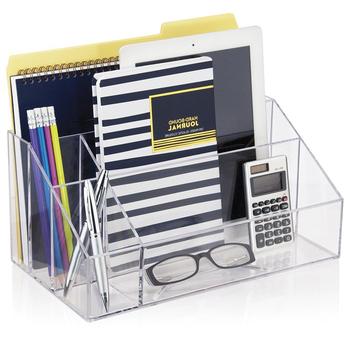 Clear Acrylic Office Desk Organizermulti Functional Lucite Desk