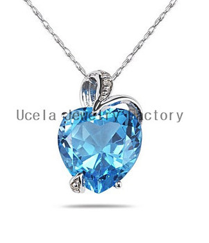 Titanic blue topaz diamond accent heart necklace love infinity titanic blue topaz diamond accent heart necklace love infinity necklace aloadofball Image collections
