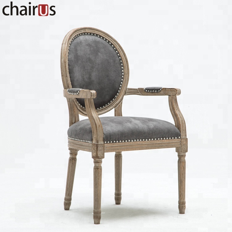 Vintage Furniture Cheap: Dining Antique Wooden Arm Luxury French Furniture Room