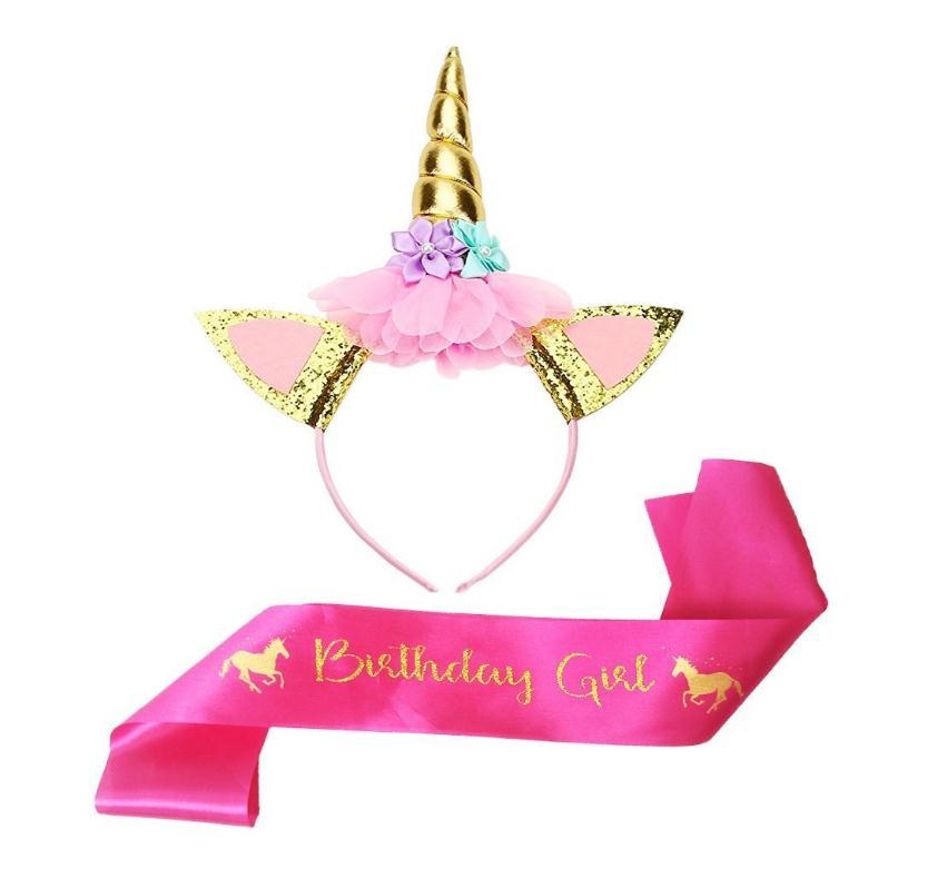 Demitm139 Unicornio La Venda Y El Marco Para La Niña De Cumpleaños ...