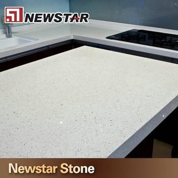 Polished Flat Edge Sparkle White Quartz