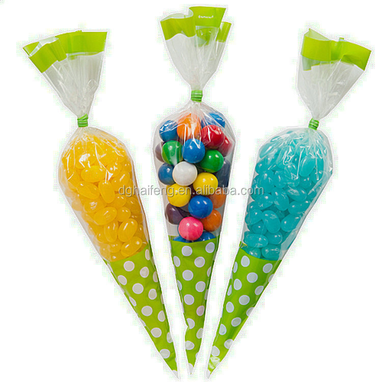 Pp Material Bag Triangle Plastic Bags For Candy