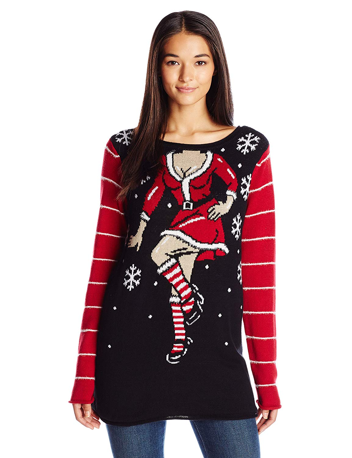 a7ba12bf722 Get Quotations · Ugly Christmas Sweater Women s Sexy Santa Helper