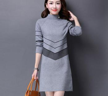 f39ac6a112e zm31791a modren girl sweater model dresses stylish long sleeve knit  pullover frock