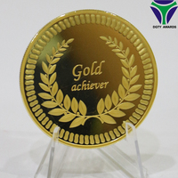 2017 Best selling gold plated tungsten coin for souvenir