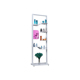 Stable quality cosmetic metal retail display cabinet stand