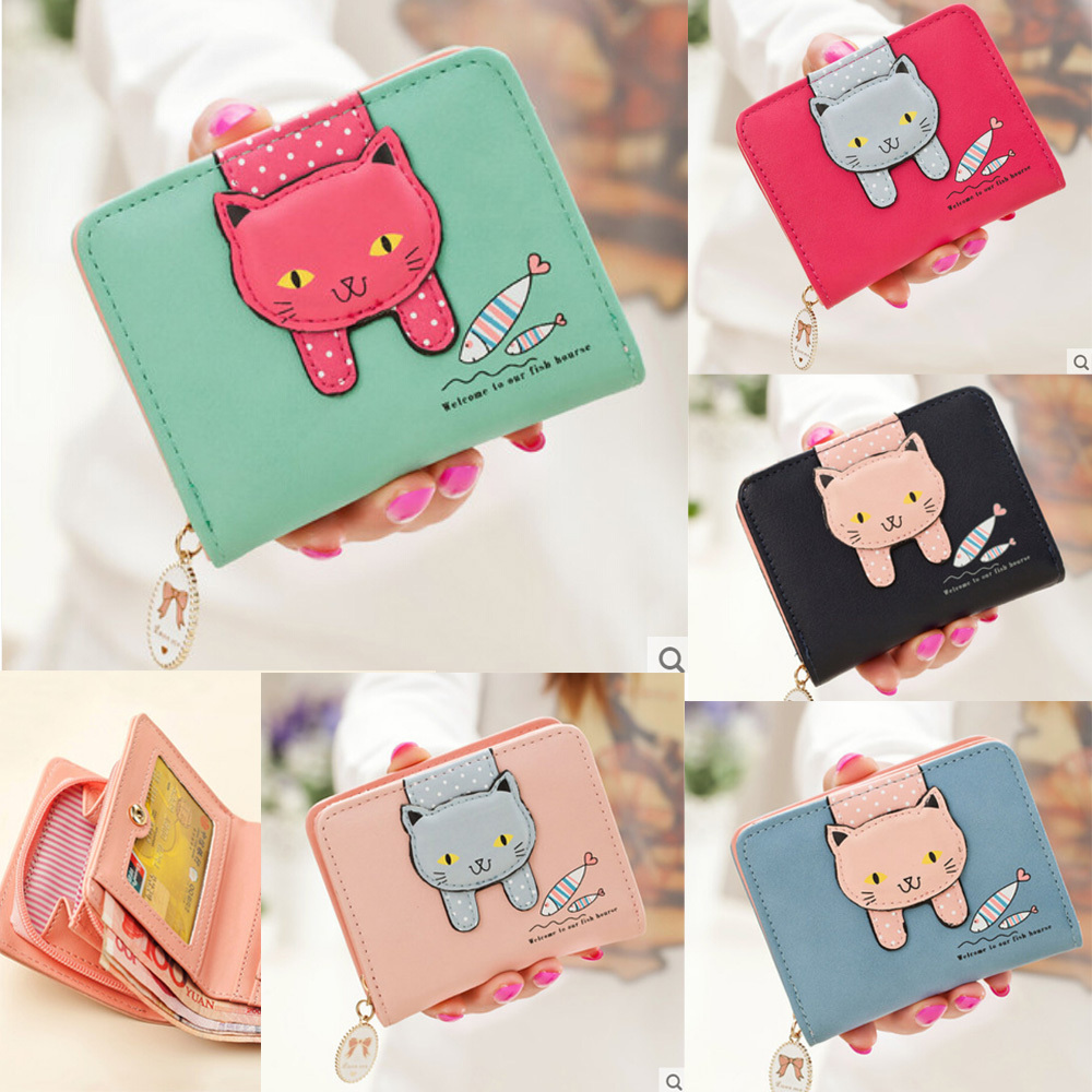 f7f9fbb824a Fashion Change Coin Bag Women Purse Wallet Cute Cat And Fish Ladies' Clutch  Card & Id Holders - ebuyerseller.com