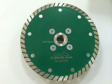 diamond turbo cutting blade with flange rainbow cutting blades