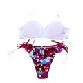 2015 Women Bikini Set Sexy Bra Floral Swimsuit Push up Swimwear Beach EA14