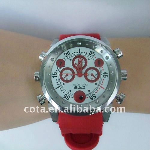 Fashion 4G Digital Watch Camera Waterproof Design With MP3 Player ADK-W136