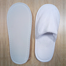 Free sample Five star white cut pile disposable hotel slippers