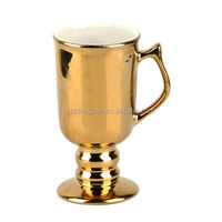 high quality elegant full gold painted ceramic porcelain coffee cup for world cup