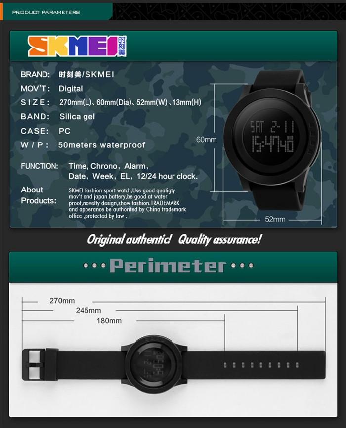 Skmei watch instructions wr 50m watch waterproof multiple time.