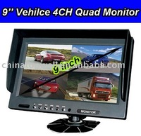 Quad Split Car Monitor with Speaker