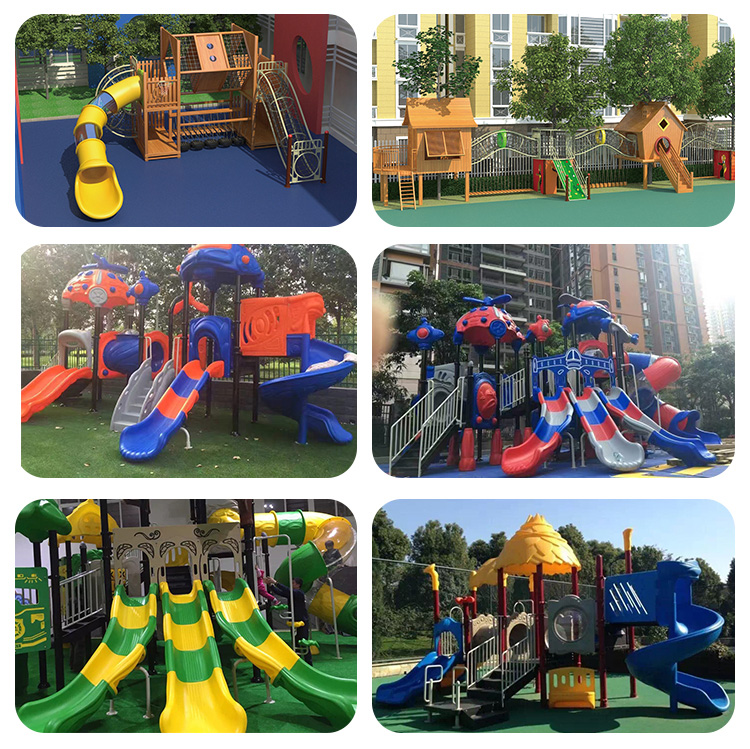 New Style Customized Commercial Wooden Combination Slide Outdoor Playground