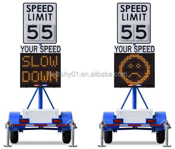 Factory Made Solar Power Vehicle-activated Radar Speed Limit Signs