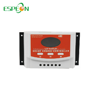Intelligent mini PWM 10A 12V 24V solar charge panel charge controller for lead-acid battery and lithium battery