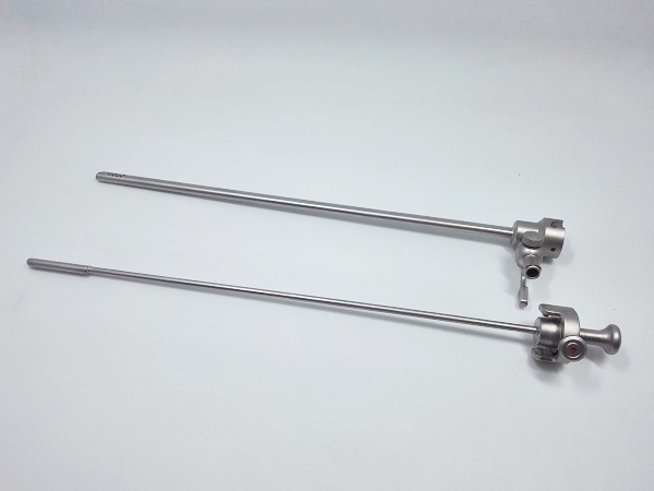 Surgical rigid Hysteroscopy instruments set for female operation / Medical Hysteroscope instruments
