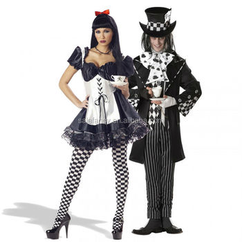 Dark Alice and Dark Mad Hatter woman Alice in Wonderland halloween costume QAWC-2385  sc 1 st  Alibaba & Dark Alice And Dark Mad Hatter Woman Alice In Wonderland Halloween ...