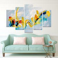 New Designs Abstract Canvas 5 Panel Modern Wall Art Oil Painting