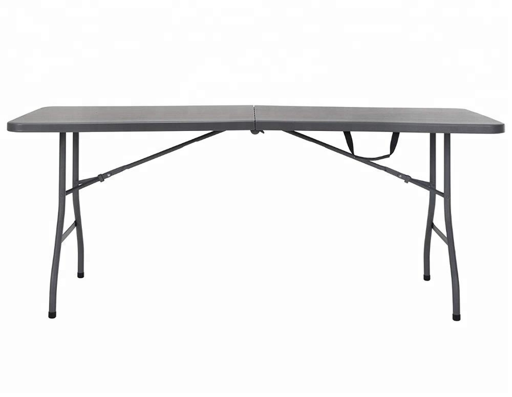6ft Lightweight Portable HDPE plastic Table/Leisure Garden Ergonomic Banquet Catering Dining <strong>Folding</strong> in Half Rectangular Table
