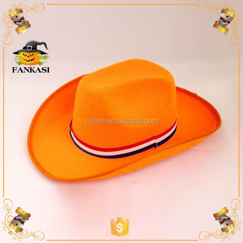 Felt Party Blaze Orange Cowboy Hat - Buy Blaze Orange Cowboy Hat ... 28f07f29a88