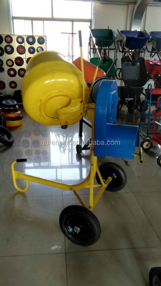 120L Electric portable Concrete mixer plastic drum concrete mixer