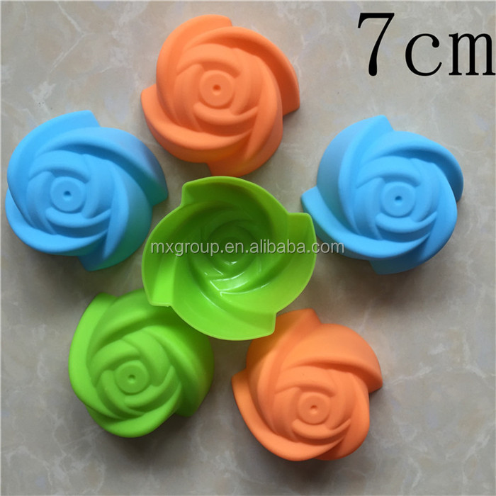 7 cm puckering Single rose silicone cake mold jelly mousse mould silicone baking molds,DIY silicone baking molds