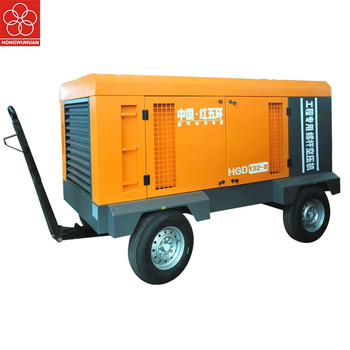 Hongwuhuan 132kw 14bar Crazy Selling Best Quality Electric Screw 5.5hp Petrol Engine Portable Air Compressor 300l 8bar
