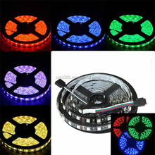 SMD5050 RGB 5m 60leds/m led strip Waterproof IP65 Black PCB DC12V Mixed color