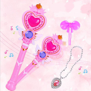 Girls Toys Led Light Up Princess Wand With Music Sound