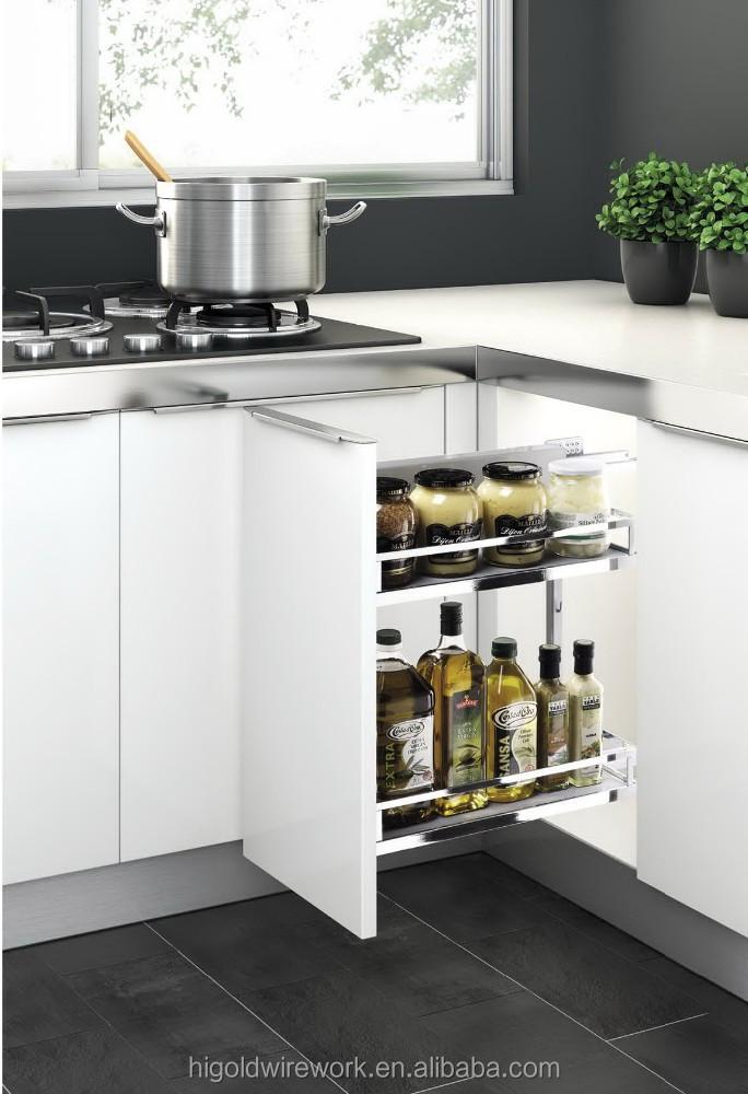 Higold hot koop keuken organizer sliding kruidenrek-keuken opslag ...