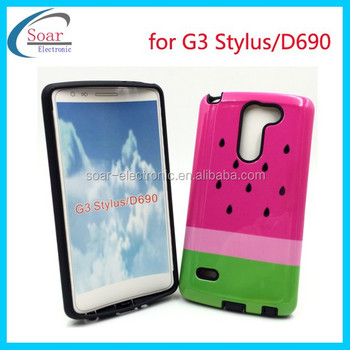 89db92f6cfc Watermelon printed design combo case for LG G3 Stylus, glossy PC+TPU Hybird  case