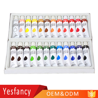 china manufacturer OEM logo 12ml non toxic bright colors acrylic paints hand drawn nails clothes acrylic paint tubes
