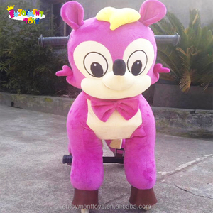 Promotion EN71 plastic animal mechanicals toys adult ride on spring toys