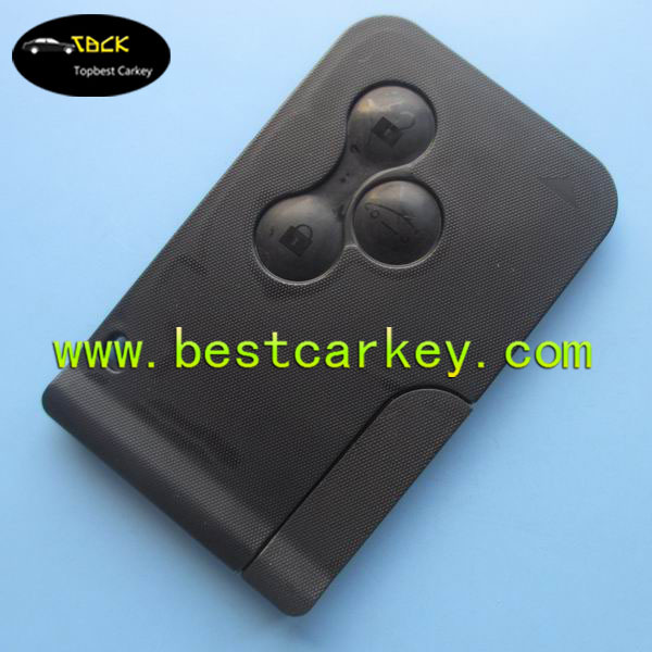 Topbest 3 button Megane Key Card with 433Mhz ID46 7947 chip