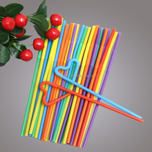 Disposable Plastic Straw, Colorful Drinking Flexible Straw