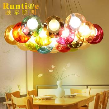 Modern Colorful Glass Bubble Ball Shape Hanging Pendant Led Magic ...