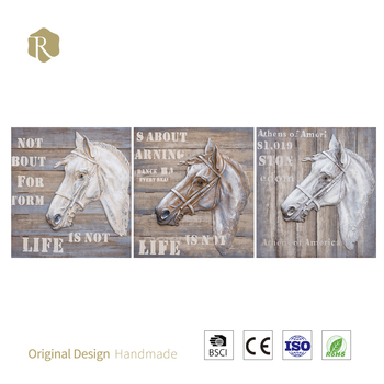 High Quality 3d Graceful Horse Art Oil Paintings For Home Decor ...