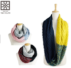 fashion custom winter long infinity loop knitted scarf women scarf