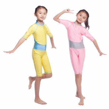 Hot sale swimming suits children Muslim swimwear Islamic girls swimsuit
