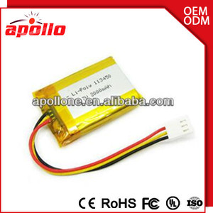 hot sale 3.7v 2000mAh small size huge capacity lipo battery rechargeable batteries li polymer China