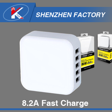 Guangzhou Factory Flat Restaurant Table Wall Charger Colorful Automatic Mobile Phone Travel Charger 6 8 10 Port Available