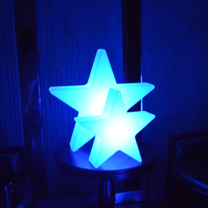 white five-pointed acrylic star Hanging LED Christmas star